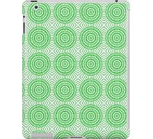 Bright Green Tile Circles iPad Case/Skin