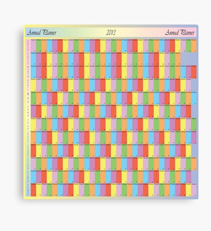 ANNUAL PLANNER 2013 SQUARE Canvas Print