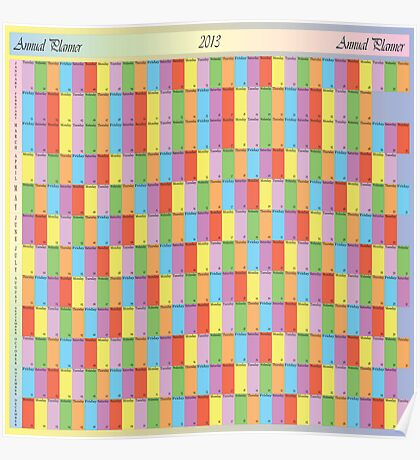ANNUAL PLANNER 2013 SQUARE Poster