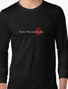 Kimi Raikkonen (Helmet Colours) Long Sleeve T-Shirt