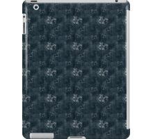 Antique White Butterflies on Dark Blue iPad Case/Skin