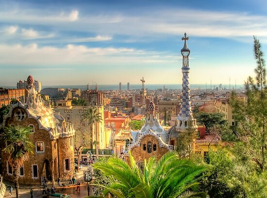 """Parc Guell"" (Barcelona) by Paul Ryan"