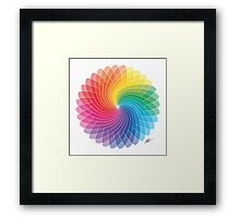 Colour Wheel Flower Framed Print