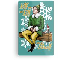 Elf on an Elf on a Shelf Metal Print