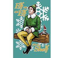 Elf on an Elf on a Shelf Photographic Print