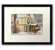 The House in a Winter Wonderland Framed Print