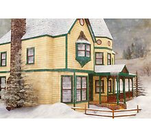 The House in a Winter Wonderland Photographic Print