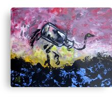 Jar Ostrich Metal Print