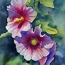 Sunny Pink Hollyhock by Ann Mortimer