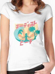 NUDIST BEACH Women's Fitted Scoop T-Shirt