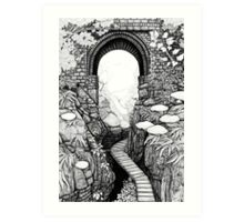 Lydford Gorge - Fantasy Version Art Print