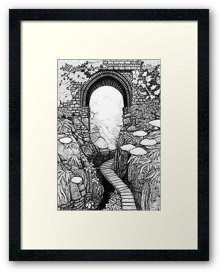 Lydford Gorge - Fantasy Version by Paul Stratton