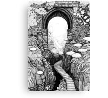 Lydford Gorge - Fantasy Version Canvas Print