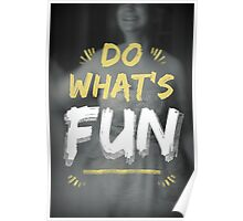 Sometimes You Need To Do What's Fun Poster