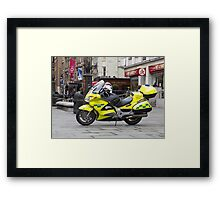 Ambulance Motorbike Framed Print