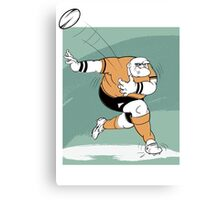 Cartoon of a rugby player Canvas Print