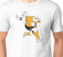 Cartoon of a rugby player Unisex T-Shirt