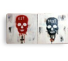 EST MORT Canvas Print
