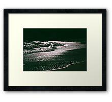 Silver Seas Framed Print