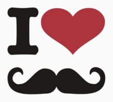 I love mustache Kids Tee