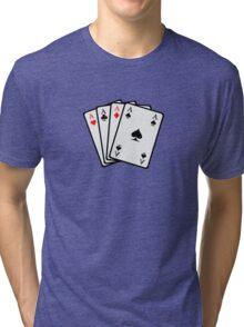 Poker cards Tri-blend T-Shirt