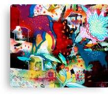 the nordic summer night Canvas Print
