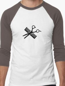 Comb & Scissors Men's Baseball ¾ T-Shirt