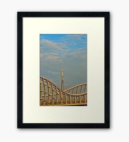 Burj Khalifa dawn Framed Print