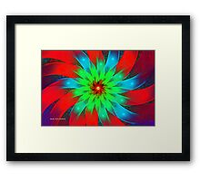 Ribbon Rosette Framed Print