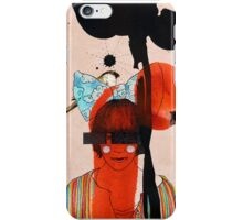 girl with one eye iPhone Case/Skin