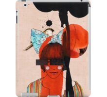 girl with one eye iPad Case/Skin