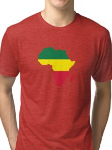 Africa map reggae Tri-blend T-Shirt