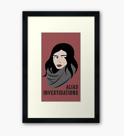 AKA Not A Superhero Framed Print
