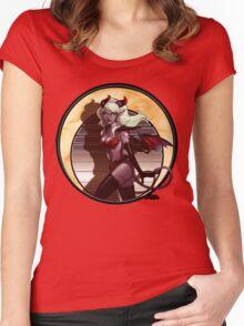 Art Nouveau Monster Girl Women's Fitted Scoop T-Shirt