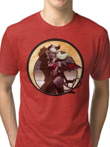 Art Nouveau Monster Girl Tri-blend T-Shirt
