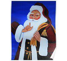 Ho Ho Ho / Christmas card Poster