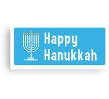 Hanukkah sticker Canvas Print