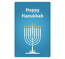 Happy Hanukkah Photographic Print