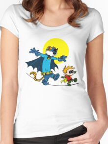 Funny Batman And Robin Women's Fitted Scoop T-Shirt
