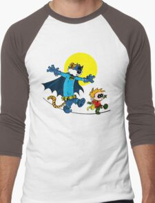 Funny Batman And Robin Men's Baseball ¾ T-Shirt