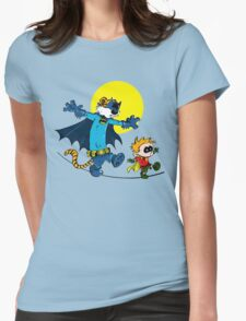 Funny Batman And Robin Womens Fitted T-Shirt