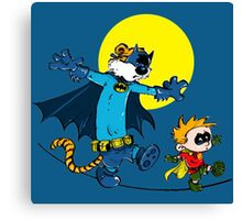 Funny Batman And Robin Canvas Print