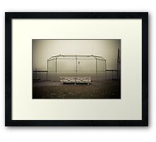 batting cage Framed Print