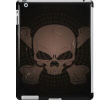 skull and crossbones appearing out of the darkness.  iPad Case/Skin