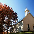 Old White Church up on the Hill by Terri~Lynn Bealle