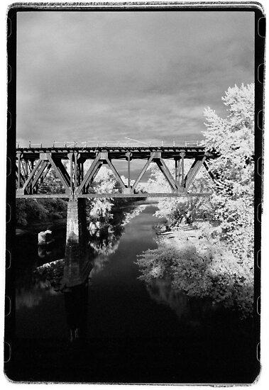 B&M Railroad Bridge at Cheapside near Greenfield, MA (vertical) by billwolff