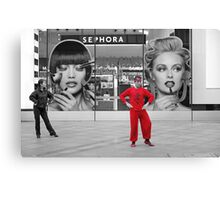 Red Shanghai Dancer Canvas Print