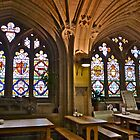 Stained Glass Windows in Refectory by magicaltrails