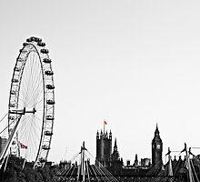 a Contrast in London  by DrewWebbPhoto