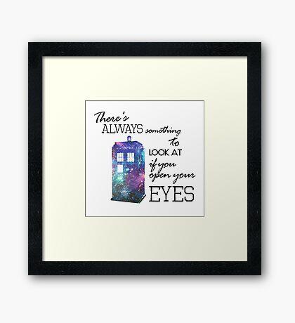 Doctor Who Tardis Framed Print